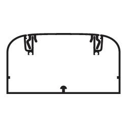 Кабель-канал алюминиевый 110х50мм (с 1 крышкой), цвет серый металлик