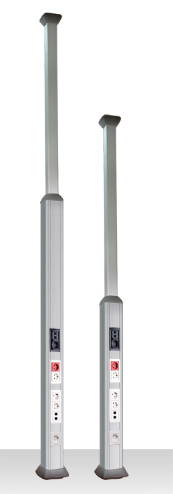 Колонна алюминиевая, 1.5 - 3м, цвет серый металлик