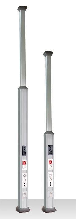 Колонна алюминиевая, 1.5 - 3м, цвет чёрный