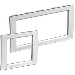 Рамка универсальная на 2 модуля, цвет серый металлик