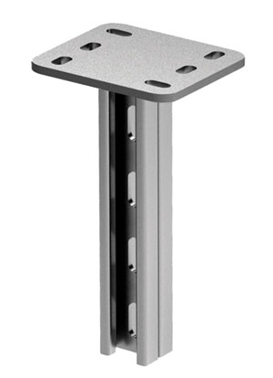 Вертикальный подвес BSD-21 двойной 41х21, L1200, нержавеющая сталь