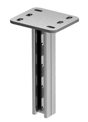 Вертикальный подвес BSD-21 двойной 41х21, L600, нержавеющая сталь