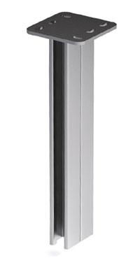 Вертикальный подвес BSD-41 двойной 41х41, L 400, нержавеющая сталь