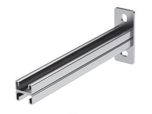 Консоль BBD-21 (двойная 41х21) на лоток с осн.600, нержавеющая сталь