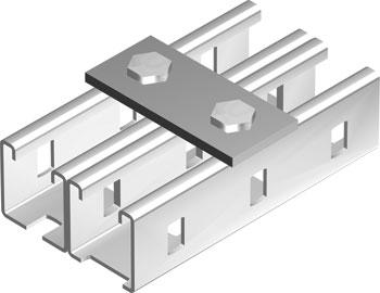 Пластина соединительная BMD-10 с 2 отверстиями, длина 90 мм1
