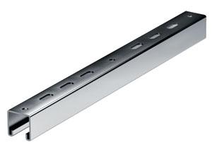 Траверса BST-41 (одиночная 41х41) на лоток с осн.500, нержавеющая сталь